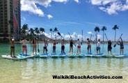 Standup Paddleboard Yoga Sup Yoga Class Waikiki Beach Photos 1 05