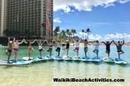 Standup Paddleboard Yoga Sup Yoga Class Waikiki Beach Photos 1 06