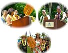 Speakers explain the signficance of the Aloha Paddle